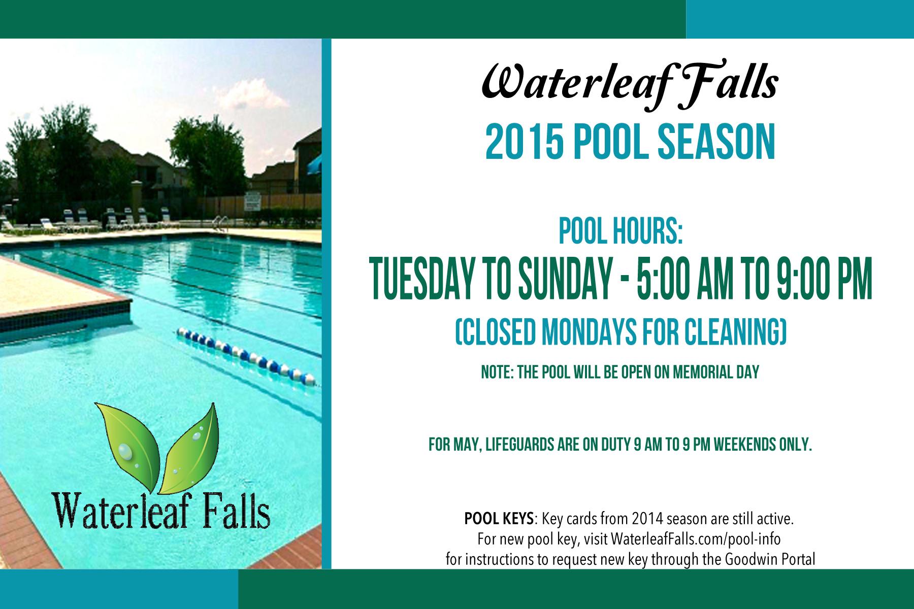 pool hours | Waterleaf Falls