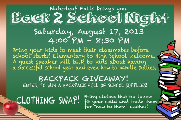 Join us before school starts!