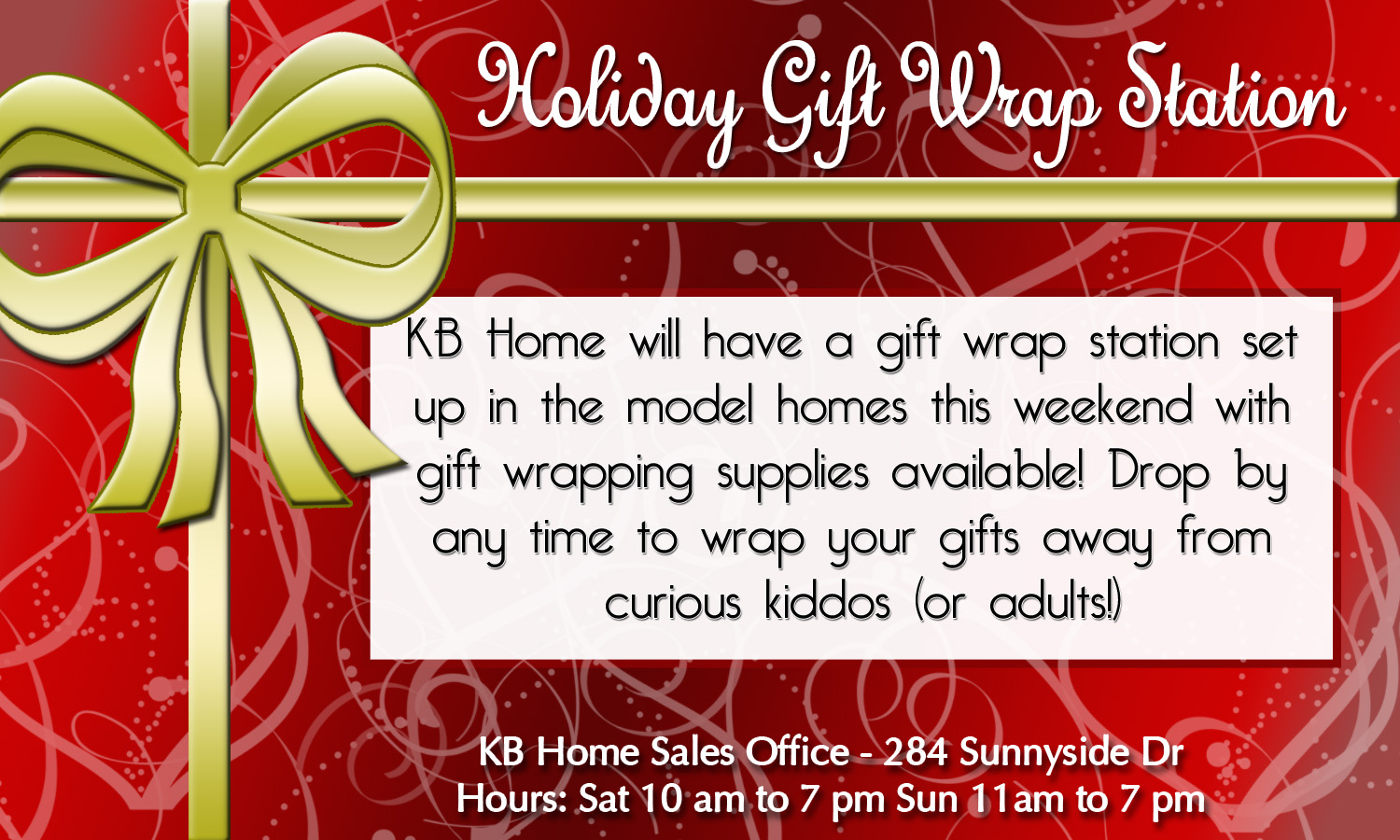 Christmas Gift Wrapping Station.Holiday Gift Wrap Station Waterleaf Falls