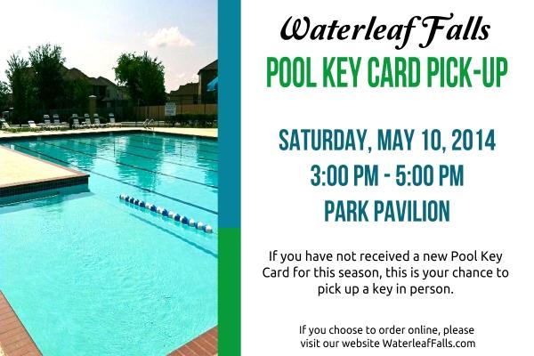 Pool Key Card Pick Up