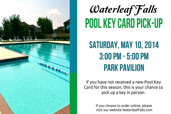 Pool Key Card Pick Up