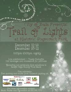 Buda trail of lights