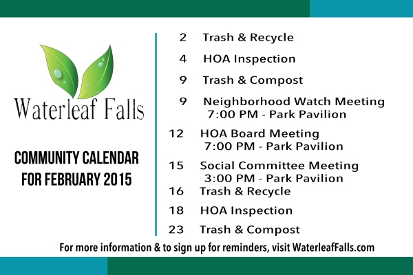 Feb 15 Community Calendar