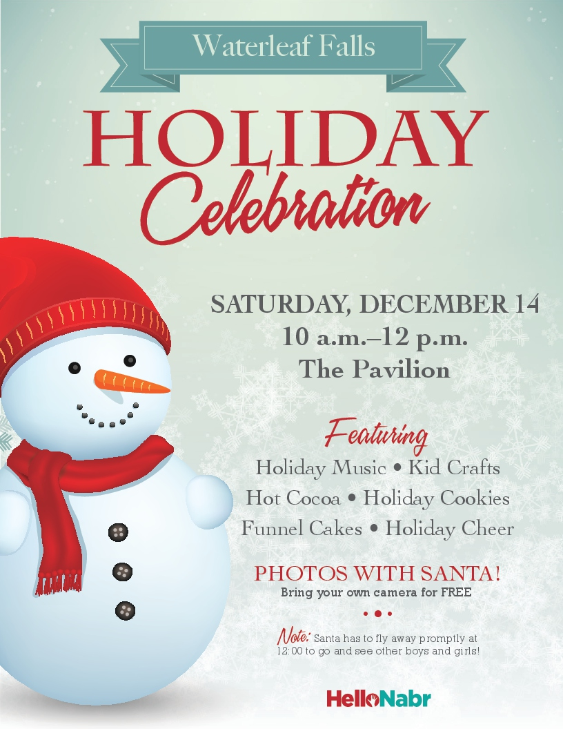 Eposter_Waterleaf Falls_Holiday Celebration_12-14-19